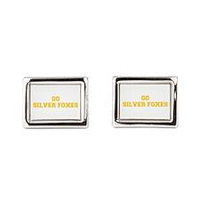 Silver Foxes-Fre yellow gold Rectangular Cufflinks