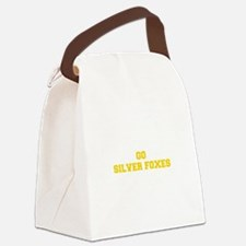 Silver Foxes-Fre yellow gold Canvas Lunch Bag