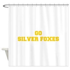 Silver Foxes-Fre yellow gold Shower Curtain