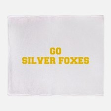 Silver Foxes-Fre yellow gold Throw Blanket