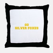 Silver Foxes-Fre yellow gold Throw Pillow