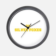 Silver Foxes-Fre yellow gold Wall Clock