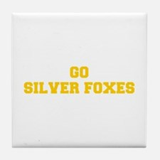 Silver Foxes-Fre yellow gold Tile Coaster