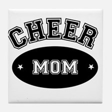Cheer Mom Tile Coaster