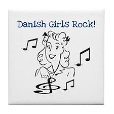 Danish Girls Rock Tile Coaster