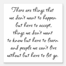 """Things we did not want t Square Car Magnet 3"""" x 3"""""""