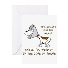 Cone of Shame Greeting Cards