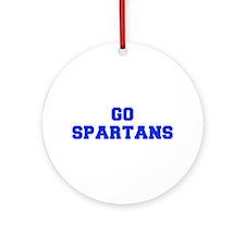 Spartans-Fre blue Ornament (Round)