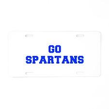 Spartans-Fre blue Aluminum License Plate