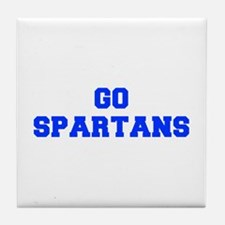 Spartans-Fre blue Tile Coaster