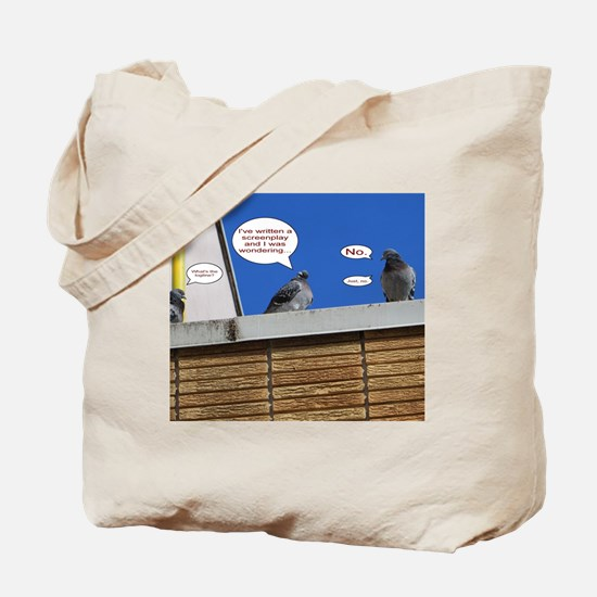 Pigeon Pitching Screenplay Tote Bag