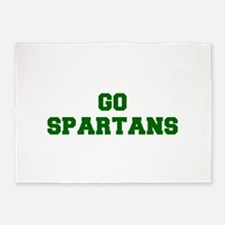Spartans-Fre dgreen 5'x7'Area Rug