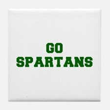 Spartans-Fre dgreen Tile Coaster