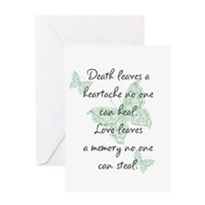 Death leaves a heartache Greeting Card