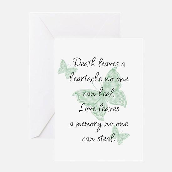 Death leaves a heartache Greeting Card