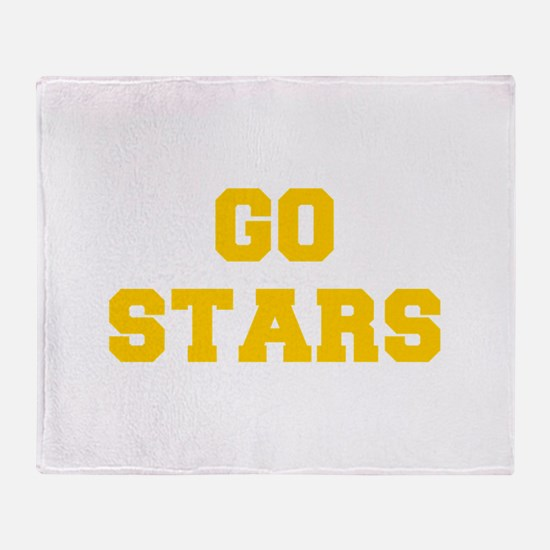 Stars-Fre yellow gold Throw Blanket
