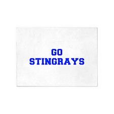 stingrays-Fre blue 5'x7'Area Rug