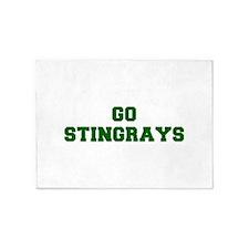 stingrays-Fre dgreen 5'x7'Area Rug