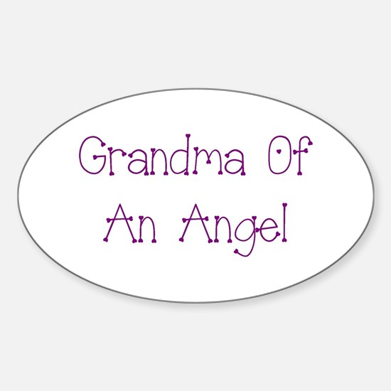 Grandma of an Angel Sticker (Oval)