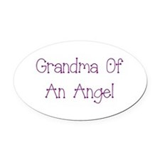 Grandma of an Angel Oval Car Magnet