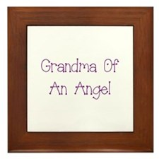Grandma of an Angel Framed Tile