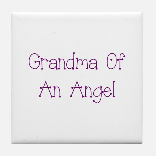Grandma of an Angel Tile Coaster