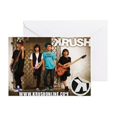 KRUSH Collector Card Greeting Card