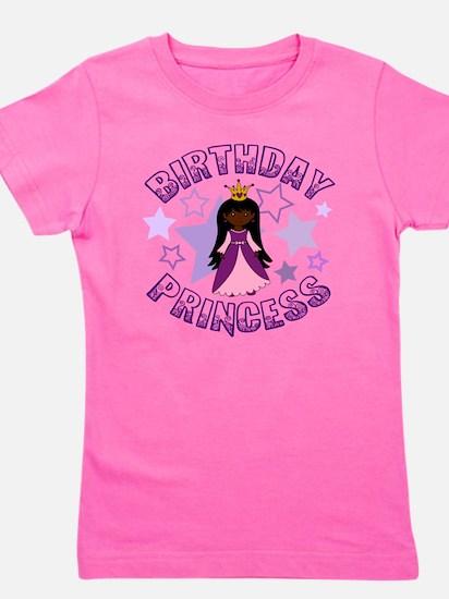 Birthday Princess - Dark Skin Black Ha Girl's Tee