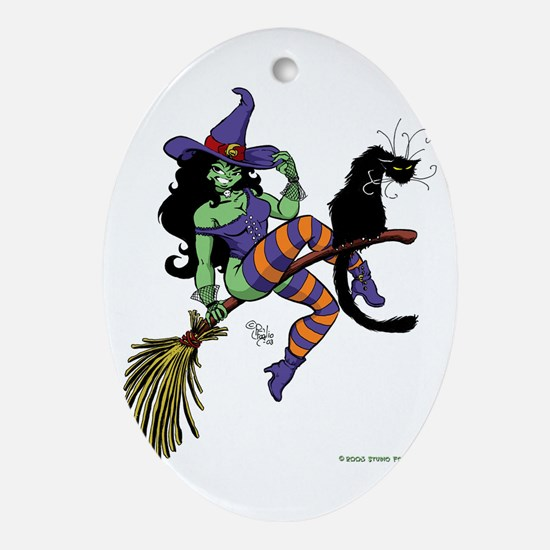 Witchy.jpg Ornament (Oval)