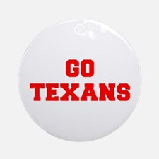TEXANS-Fre red Ornament (Round)