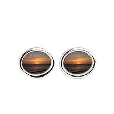 Ocean Sunset Oval Cufflinks