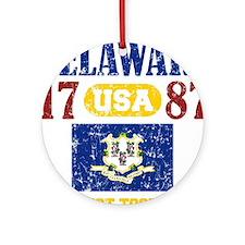 "DELAWARE / USA 1787 STATEHOOD ""PERF Round Ornament"