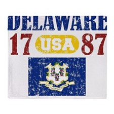 "DELAWARE / USA 1787 STATEHOOD ""PERFE Throw Blanket"