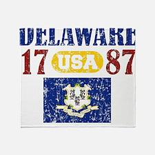 "DELAWARE / USA 1787 STATEHOOD ""PERFE Throw Blanket"
