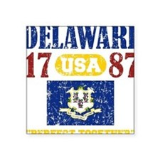 "DELAWARE / USA 1787 STATEHO Square Sticker 3"" x 3"""