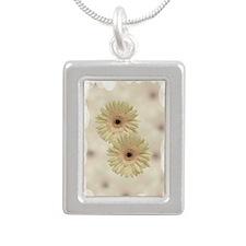 Daisies Silver Portrait Necklace