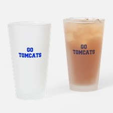 Tomcats-Fre blue Drinking Glass