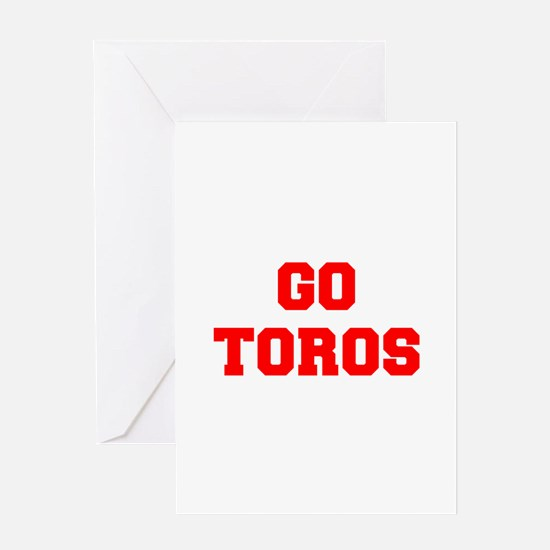 TOROS-Fre red Greeting Cards