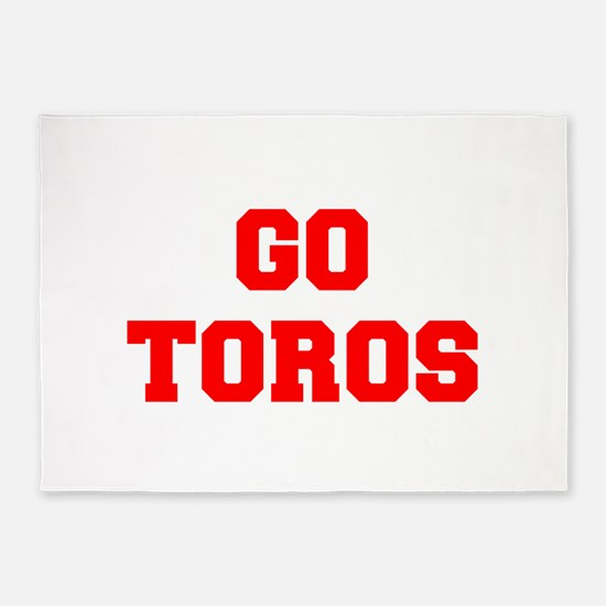 TOROS-Fre red 5'x7'Area Rug