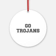 TROJANS-Fre gray Ornament (Round)