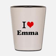 I Love Emma Shot Glass