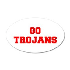 TROJANS-Fre red Wall Decal