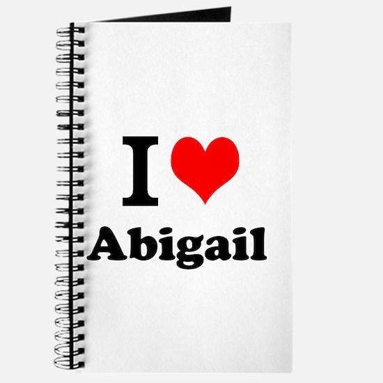 I Love Abigail Journal