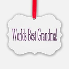Worlds Best Grandma Ornament