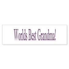 Worlds Best Grandma Bumper Sticker