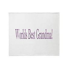 Worlds Best Grandma Throw Blanket