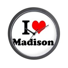 I Love Madison Wall Clock
