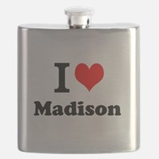 I Love Madison Flask