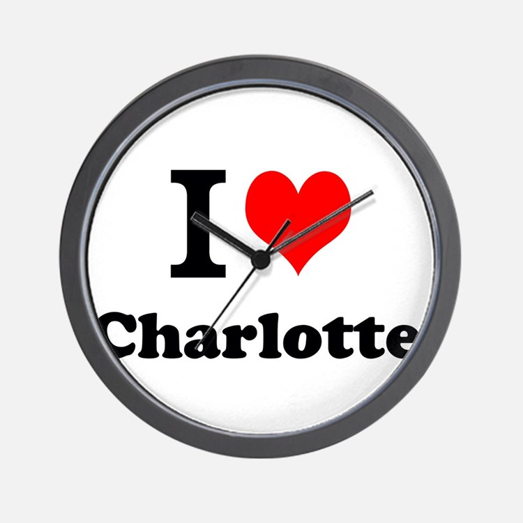 I Love Charlotte Wall Clock