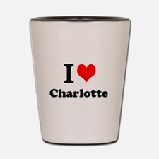 I Love Charlotte Shot Glass